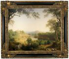 Durand Sunday Morning 1860 Framed Canvas Print Repro 16x20