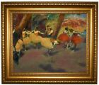 Degas Before the Performance 1896 Framed Canvas Print Repro 16x20