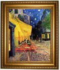 van Gogh The Cafe Night Terrace Place du Forum Framed Canvas Print Repro 16x20