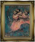 Degas Three Dancers in Red Costume 1896 Framed Canvas Print Repro 16x20