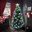 Christmas Tree Fibre Optic Colour Changing LED Lights 2ft 3ft 5ft 6ft Xmas Star