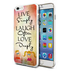 Live Simply Design Hard Back Case Cover Skin For Various Phones