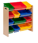 Honey Can Do Kids Toy Organizer and Storage Bins, Multiple Colors