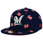 Milwaukee Brewers MLB July 4th Independence Day America USA Flag Fitted Hat Cap on Ebay