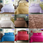Colorful Solid Bedspreads Set King Size Coverlet Quilted Bed Blanket Throw Rug