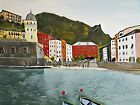'CINQUE TERRE' LIMITED ED FINE ART PRINT HAND SIGNED ARTIST S BANKS
