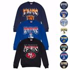 "NFL Mitchell & Ness ""Rushing the Line"" Fleece Crew Sweatshirt Collection Men's on eBay"