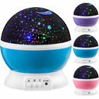 LED Rotating Projector Starry Night Lamp Kids Gift Star Light Ceiling Wall Decor