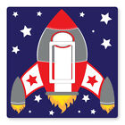2 X Rocket - Uk Light Switch Stickers, Living Room Bedroom Nursery Decor