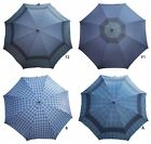 ACCLAIM Checked Panels Rubber Handle Solid Metal Frame Golf Style Umbrella