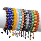 Men's 10mm Natural Gemstones Macrame Beads Shamballa Yoga Mala Beaded Bracelet