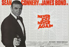 Never Say Never Again - James Bond - 1983 - Movie Poster £23.54 GBP