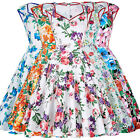 Floral Vintage 50s 60s Retro Style Pinup Housewife Swing Evening Cocktail Dress
