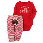 My 1st Christmas Baby Boy Girls Infant Outfits Clothes Tops Pants Leggings Set