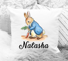 Personalised Peter Rabbit Cushion Cover Any Name Super Soft Material Gift