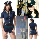 Women's Sexy Police Uniform Dirty Cop Officer Masquerade Corset with Handcuffs