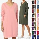 TheMogan Casual Oversized V-Neck Sweatshirts Loose Fit Pullover Tunic S 3XL