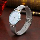 Fashion Women Girl Marble Surface Stainless Steel Band Quartz Analog Wrist Watch