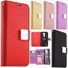 For ZTE Blade Spark 4G Premium Flip Out Pocket Wallet Case Cover +Screen Guard