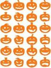 24 Halloween Pumpkin Stickers, lots of colours, decoration, party, fun