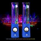 Dancing Water Fountain Speakers 4 LED  Light Portable Party Music Amplifier Blue