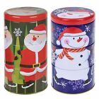 3pc Metal Christmas Themed Biscuit Sweet Treat Tin Storage Cookie Airtight Gift