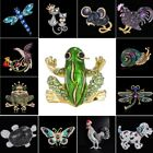 Cat Dog Butterfly Frog Animal Brooch Pin DIY Wedding Bouquet Jewelry Womens Gift