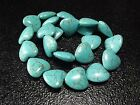 20mm Blue Turquoise Heart Spacer Gemstone Necklace beads Jewelry 16""