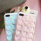 Cute 3D Shining Love Heart Soft Case Transparet Cover for iPhone 8 7 6 6s Plus