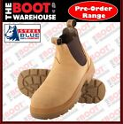 Steel Blue, 312101, 'Hobart' Steel Cap Safety Work Boots, Pull-On, Wheat Nubuck