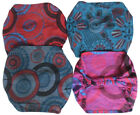 FAIR TRADE COTTON HAIR BANDANA BANDS HEADBAND ACCESORIES - 4 PACK
