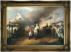Trumbull Surrender of Lord Cornwallis Wood Framed Canvas Print Repro 12x18