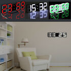 Large Display Digital Led 3D Desk Wall Clock Watch 24/12Hour Alarm Modern Design