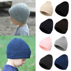 Boy Girls Kids Toddler Woolly Chunky Ribbed Knitted Winter Beanie Hat Cap UK