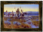 Russell Piegans 1918 Wood Framed Canvas Print Repro 19x28
