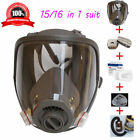 16 in 1 Full Face Gas Mask AS 3M 6800 Dust Painting Spray Protective Cartridge