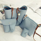 PU Leather 2/4pcs Women Handbag Shoulder Bag Tote Purse Messenger Satchel Clutch