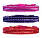 PINK RED PURPLE LUXURIOUS VELVET & SPARKLE medium breed dog puppy collar or set