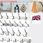 Stainless Steel Coat Robe Hat Clothes Towel 10/12/15 Hook Wall Door Hanger Rack