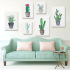Modern Watercolor Cactus Canvas Print Painting Wall Art Picture Home Decoration
