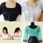 Ladies Indian Bollywood Evening Ready Made Blouse Designer Sequin Party Wedding
