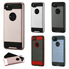 For Google Pixel 2 & XL Brushed Metal HYBRID Rubber Case Phone Cover Accessory