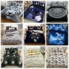 Tiger Double Queen King Size Duvet Doona Quilt Cover Set Galaxy Bed Pillowcases