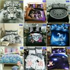 Tiger Duvet Doona Quilt Cover Set Double Queen King Size Galaxy Bed Pillowcases