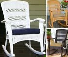 Plantation Rocker Chair Outdoor Wicker Patio Furniture Set Rocking Steel Frame