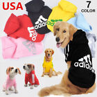 Cute Pet Dog Cat Clothes Puppy Warm Adidog Sweater Hoodie Coat Costume Apparel