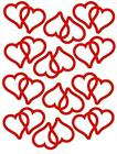 12 Linked Heart Shaped Stickers, Lots of colours, Decoration, tanning tattoos