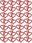 28 Linked Heart Shaped Stickers, Lots of colours, Decoration, tanning tattoos
