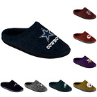 NFL Football Mens Poly Knit Cup Sole Slippers - Pick Team