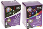 PMS 100 Battery Operated Christmas Xmas Lights Cold White Multi Coloured 1M